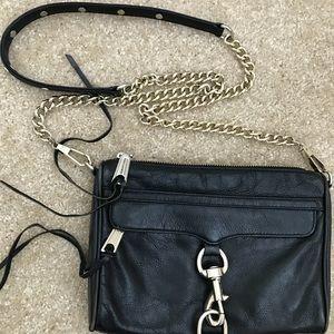 Rebecca Minkoff Mini M.A.C Bag- Black/ Gold
